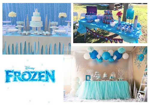 decoración de frozen mesas de buffet