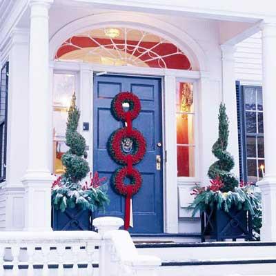 guirnaldas en la decoración de navidad