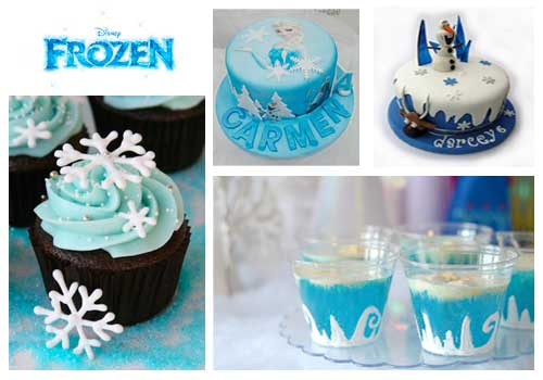 decoración de pasteles frozen