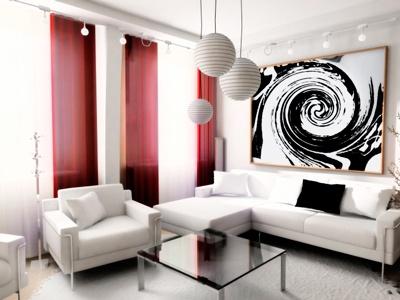 cortinas para sala de estar modernas panel japones