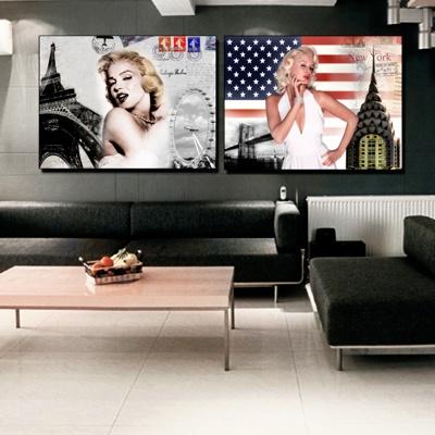 decoración de sala marilyn monroe estilo pop art
