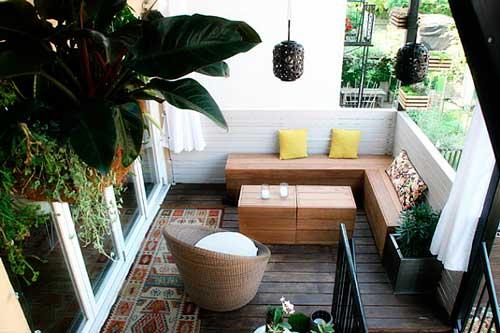 decoración de terrazas con plantas y flores