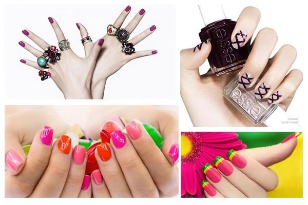 Decoración uñas de moda.