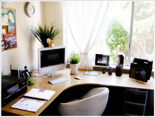 oficina en casa decorada