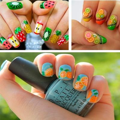 imagenes de uñas decoradas con frutas