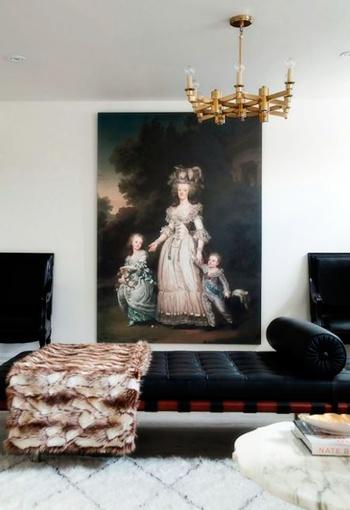 decoración de habitaciones con cuadros vintage