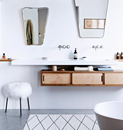 decoración de baños con espejos