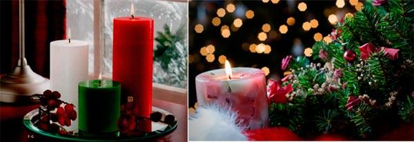 velas decorativas navidad perfumadas