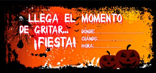 tarjeta de invitación para fiesta de halloween