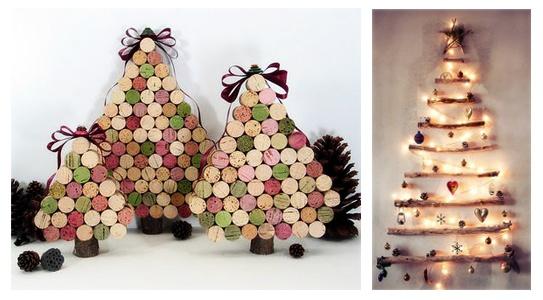 rbol de navidad con material reciclado