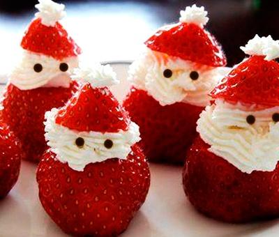 adornos de navidad hechos con frutas