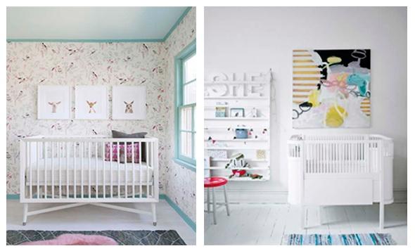 Decoración de habitación de bebé.