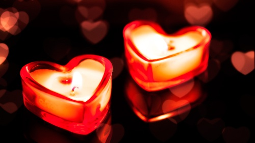 velas aromáticas, ideas para san valentín, adornos para san valentín