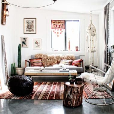 deco boho chic, muebles vintage