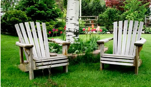 Decoracion para jardin cool muro madera guirnalda decorar for Muebles para patios y jardines