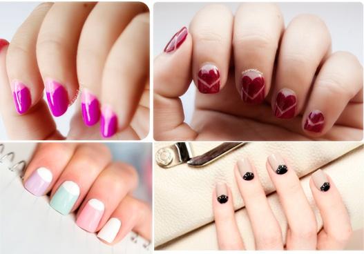 diseños de uñas francesas, manicura francesa