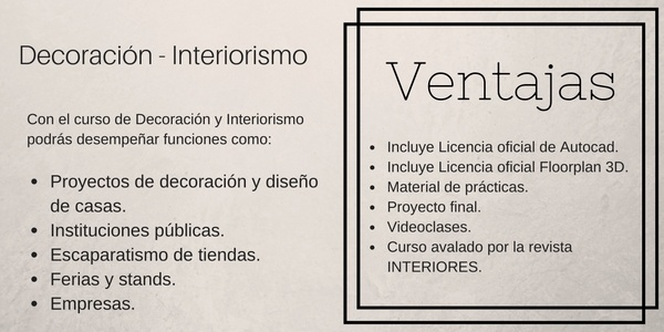 Cursos a distancia de interiorismo decoraci n for Curso interiorismo