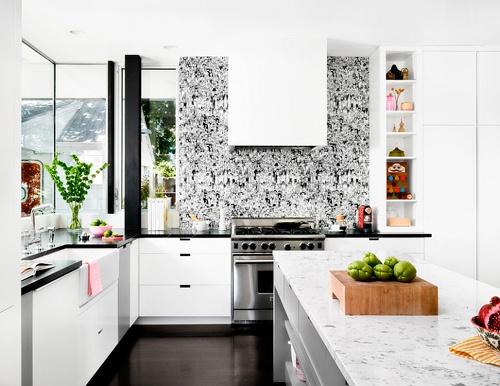 decoracion de cocinas con papel pintado