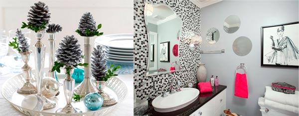 decoración de baños para navidad