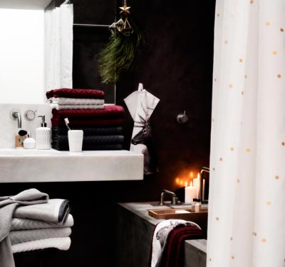 textiles para el cuarto de baño