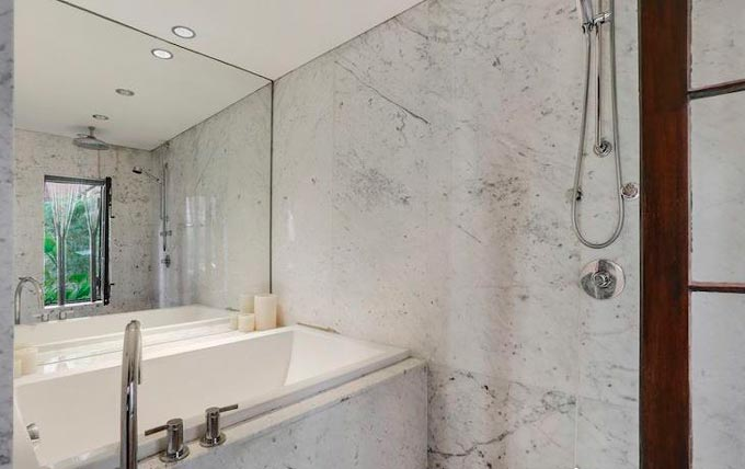 muebles baño con encimera marmol