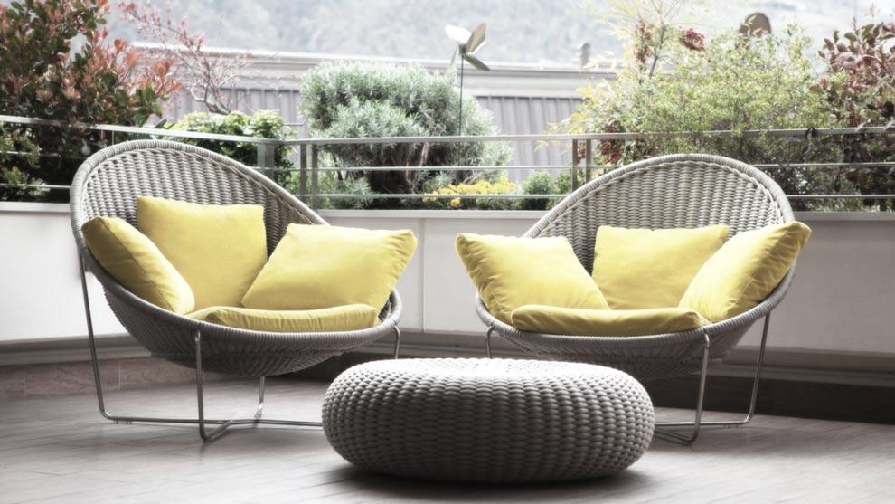 Decoraci n de terrazas c mo decorar tu terraza - Colchones para terraza ...
