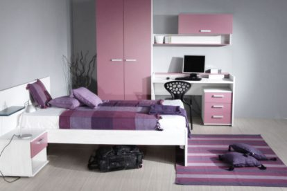 dormitorio juvenil mujer rosa
