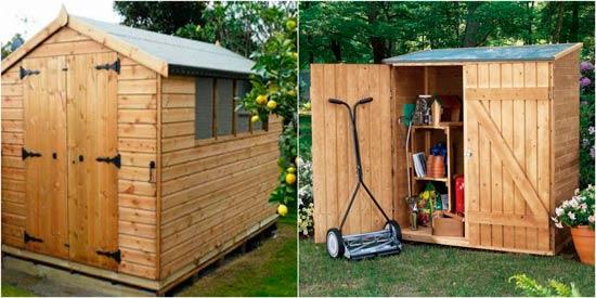 Casetas de madera para el jard n un espacio til y hermoso for Casetas para guardar herramientas de jardin