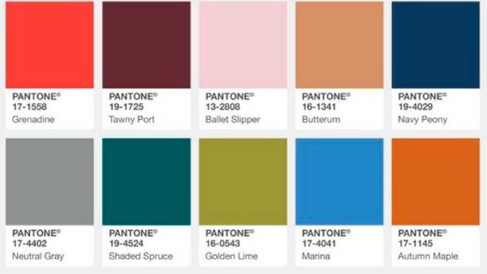 colores pantone otoño 2017