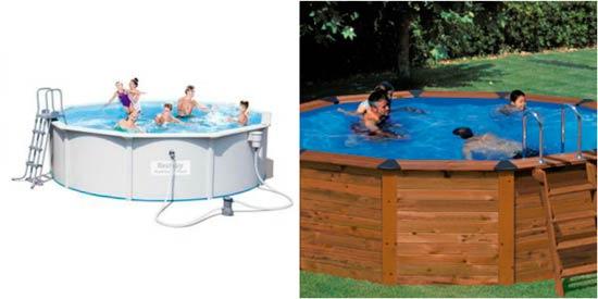 piscinas desmontables de madera y pvc