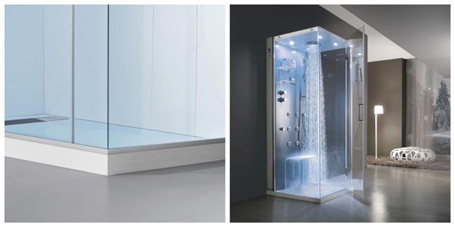 ducha moderna con chorros de agua azules decoracion-de.com