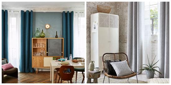 cortinas para comedor decoracion-de.com
