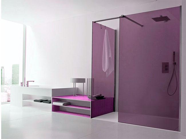 mampara de ducha moderna