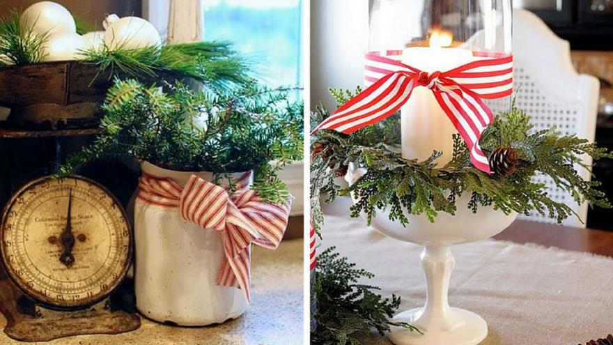 decoracion con lazos navidad
