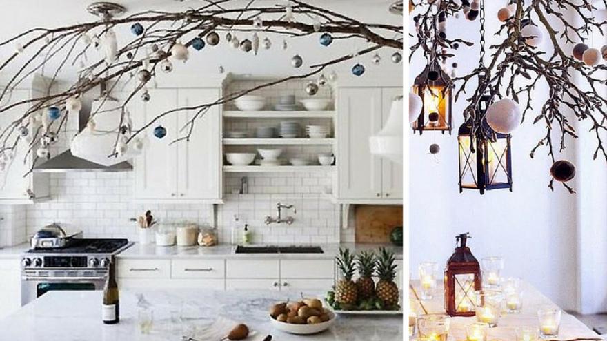 cocina decorada navidad