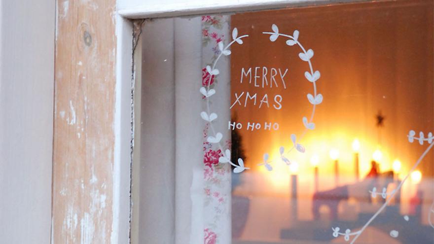ventana cocina navidad