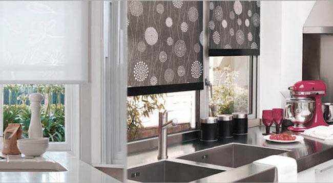 cortina enrollable cocina
