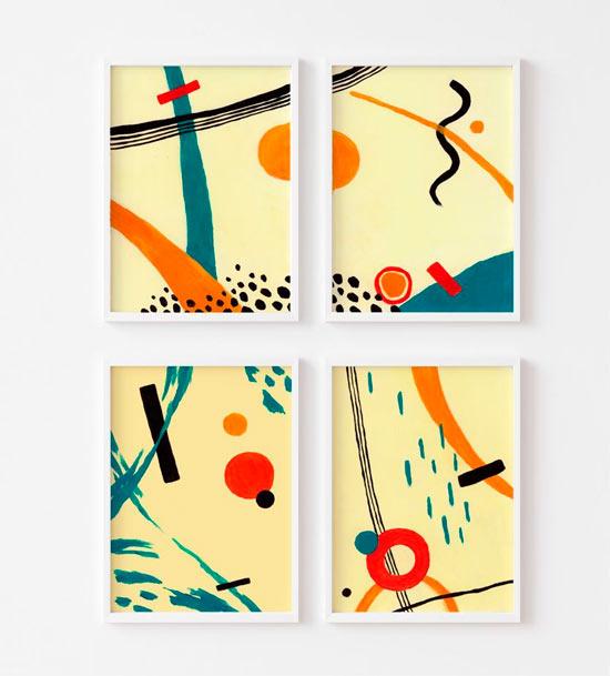 composicion cuadros abstractos